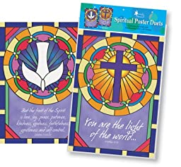 Poster Duets - Stained Glass Bulletin Board Posters