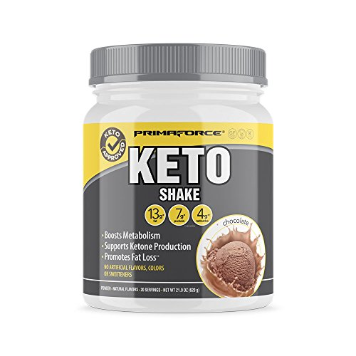 PrimaForce KetoShake – Keto MCT Meal Replacement – Curbs Appetite / Supports Weight Loss / Enhances Ketosis – Chocolate, 20 Servings