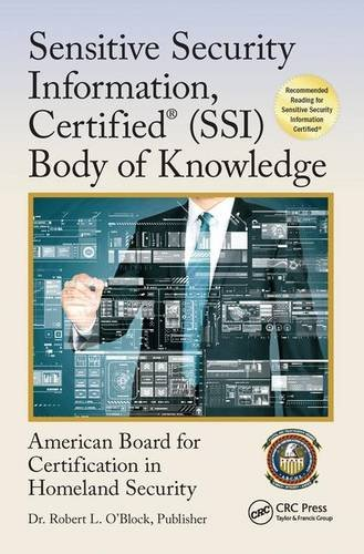 Sensitive Security Information, Certified® (SSI) Body of Knowledge (Center for National Threat Assessment)
