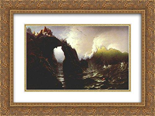 Albert Bierstadt 2x Matted 24x18 Gold Ornate Framed Art Print 'Seal Rocks (San - San Galleria Francisco