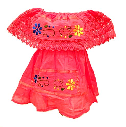 Mexican Infant Dress Size 0 Color Coral Day of The Dead Coco Theme Party Halloween Party