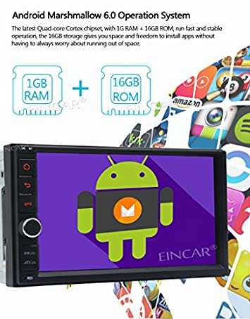Android 6.0 Marshmallow 7 Inch HD Digital Touch Screen Car Stereo Double Din Quad-core Multimedia Player GPS Navigation Support SWC Mirror-Link 3G 4G WIFI Bluetooth OBD2 DAB AM FM RDS Radio Cam-In