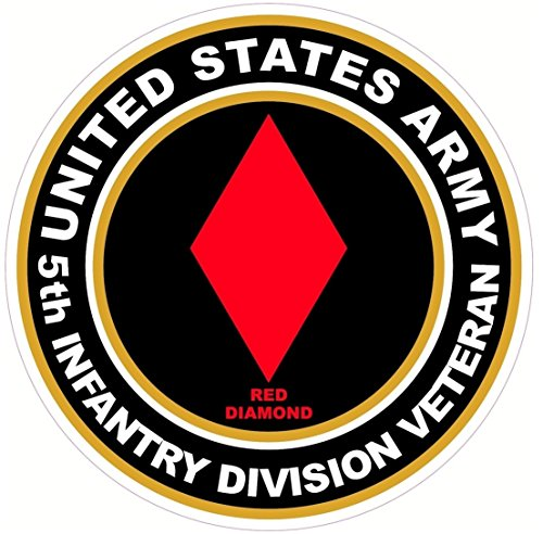 1-pcs-indefectible-popular-us-army-veteran-5th-infantry-division-red-diamond-stickers-signs-locker-w