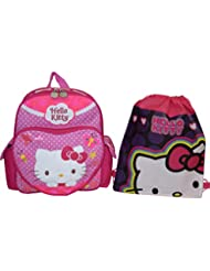 Hello Kitty embroidered 12 School Backpack W/ Bonus Sling Bag