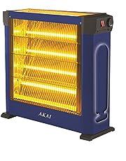 دفاية كهربائية من اكاي AK-2970-B، 4 شمعات - ازرق