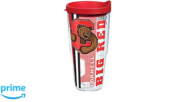 Tervis 1226816 Boston University Terriers College Pride Tumbler with Wrap and Red Lid 24oz Clear