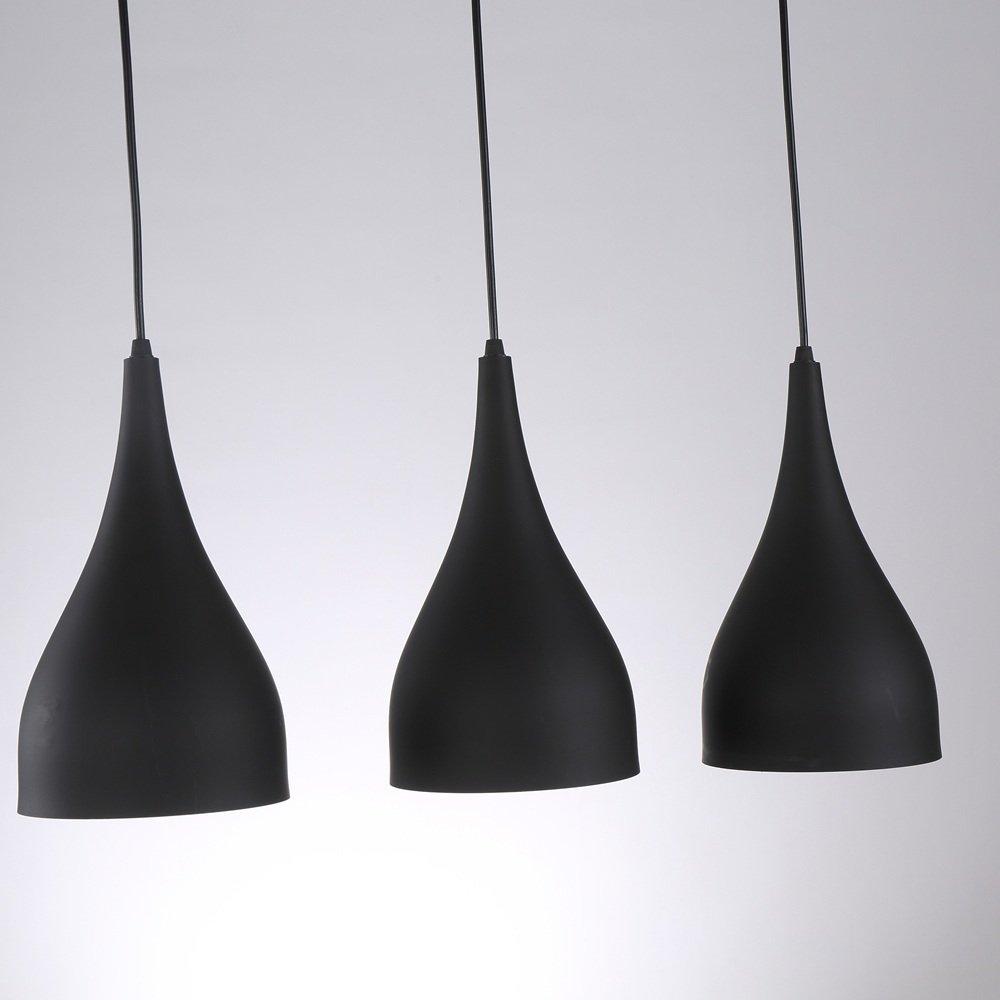 SAILUN 3er Set Kronleuchter Pendelleuchten Pendellampe Schwarz E27  Lampenschirm Für Küche Wohnzimmer Decken Hängeleuchte (A Type): Amazon.de:  Beleuchtung