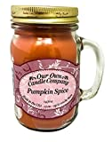 Our Own Candle Company Pumpkin Spice Scented 13 Ounce Mason Jar Candle