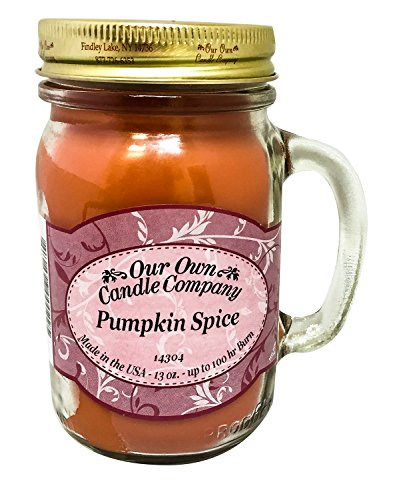 Our Own Candle Company Pumpkin Spice Scented 13 Ounce Mason Jar Candle by Our Own Candle Company
