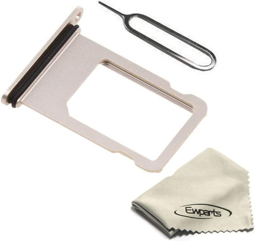 Ewparts Replacement Part for iPhone 8 Sim Card Tray (Gold)