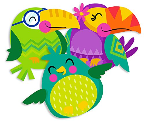 Eureka Back to School Multicolored Toucan Paper Cut-Out Decorations for Teachers, 36 pc, 5.5'' W x 5.5'' H (You Can Toucan)