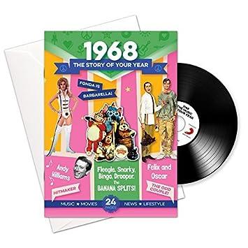 1968 regalos de cumpleaños o aniversario - 1968 Tarjeta 4-en ...