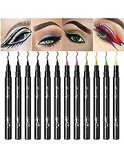 12 kleuren Matte Liquid Eyeliner Set Gekleurde Eyeliner Pennen Long Lasting Waterproof vlekvrij Liquid Eyeliner Pennen