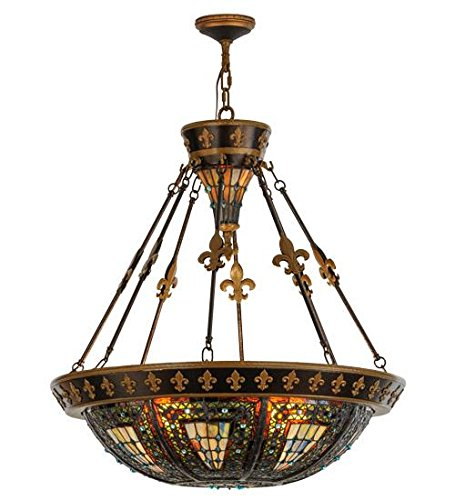 Amazon.com: Meyda Tiffany 19808 Fleur-De-Lis Collection 6 ...