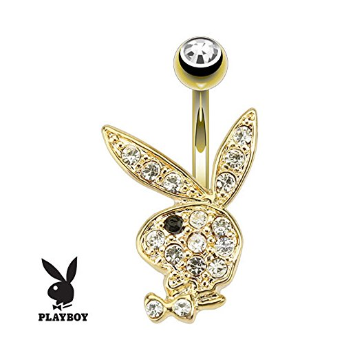 Gold Plated Stainless Steel Belly Button Ring - 3