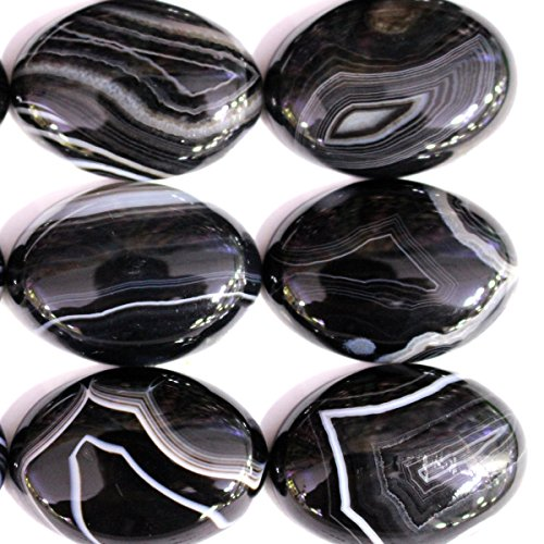 5pcs Stone Natural Real Gemstones Oval 2230mm Cabochons for Jewelry Making Beads Cabs (black onyx)