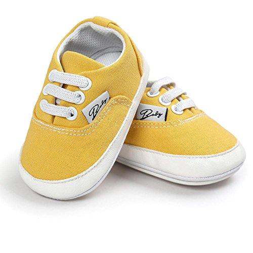 Zapatos de bebé, Switchali zapatos BebéNiña Chicos moda Zapato de lona Recién nacido nino Zapatos casuales Zapatilla Antideslizante Suela blanda barato gran venta Amarillo