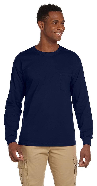 Gildan Ultra Cotton@ 6 oz. Long-Sleeve Pocket T-Shirt (G241) NAVY