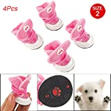 Como Nonslip Rubber Bottom Pink Air Mesh Shoes for Pet Dog 2, My Pet Supplies