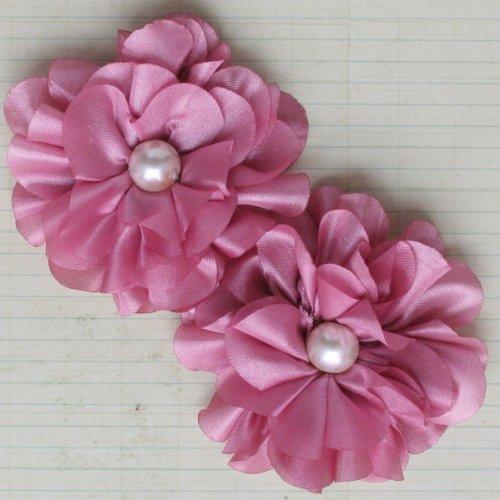 (Maya Road TK2433 Satin Scallop Edge Blooms Flowers, Rose)