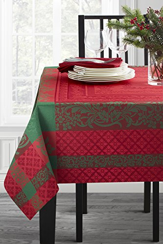 Benson Mills Majestic Christmas Engineered Jacquard Tablecloth (Multi, 60