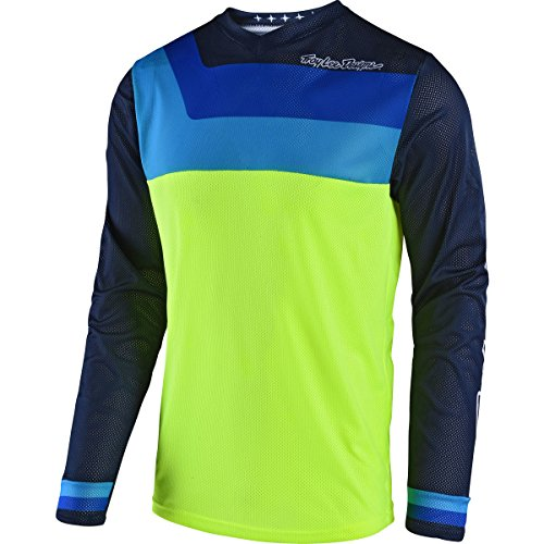 Troy Lee Designs 2018 Youth GP Air Prisma Jersey-Flo Yellow-YXL by Troy Lee Designs