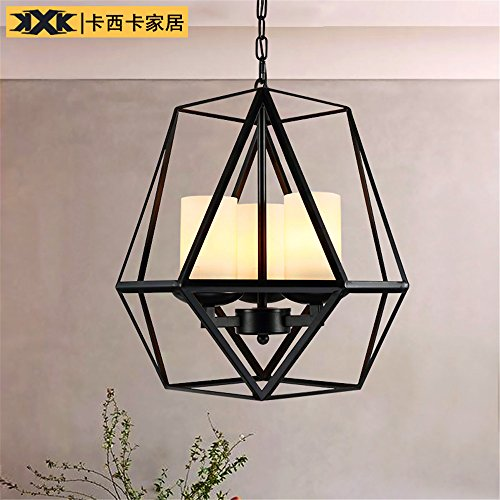 Industrial Pendant Light Creative Iron candle glass chandelier four, diameter 515 510mm