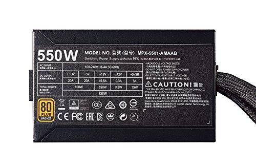 Cooler Master MasterWatt 550 W 80+ Bronze Certified Semi-modular ATX Power Supply
