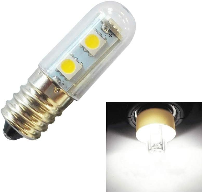 Lights Bulbs Emitting Color : Cool White E14 Screw Light LED Refrigerator Light Bulb 1W 220V AC 7 Light SMD 5050 Ampere LED Light Refrigerator Home