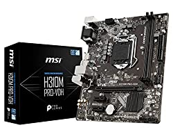 MSI Pro Series Intel Coffee Lake H310 LGA 1151 DDR4 Onboard Graphics Micro ATX Motherboard (H310M PRO-VDH)