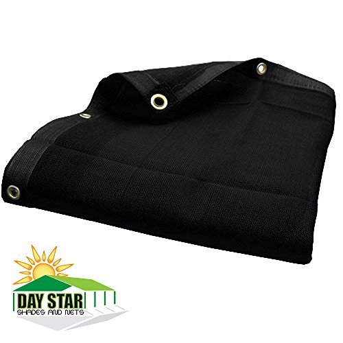 DAY STAR SHADES 18' x 24' (Black) HD Mesh Tarp Net Sun Shade Fence Screen Patio Canopy (Spacing Aluminum Fence)