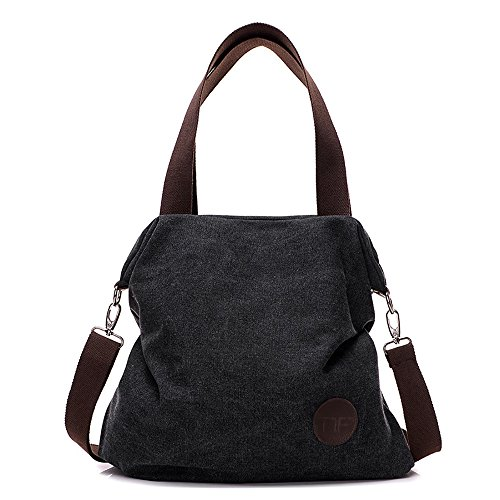 Mfeo Womens Casual Canvas Shoulder Bags Messenger Bags Crossbody Bag Tote Bags Handbag