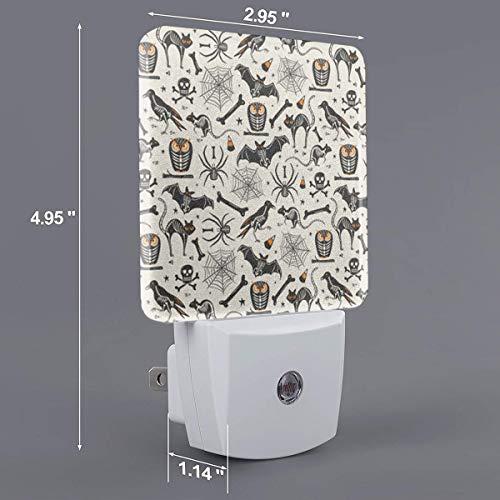 Halloween X-Ray Plug-in Night Light, Warm White LED Nightlight,Dusk-to-Dawn Sensor,Bedroom,Bathroom,Kitchen,Hallway,Stairs,Energy Efficient,Compact -
