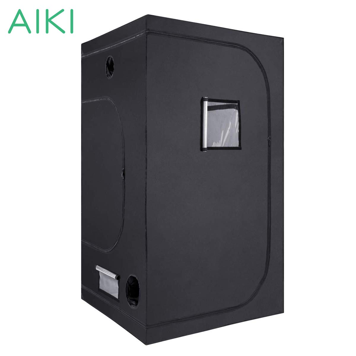 AIKI 40''x40''x80'' Reflective Mylar Hydroponic Grow Tent with Observation Window and Waterproof Floor Tray for Indoor Plant Growing 3x3 by AIKI (Image #1)