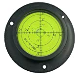 90MM Heavy Duty/High Accuracy Bulls-eye Level Bubble Spirit Level Rv Black/Green With Mounting Holes by GFNT