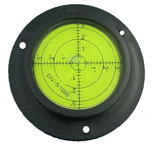 90MM Heavy Duty/High Accuracy Bulls-eye Level Bubble Spirit Level Rv Black/Green With Mounting Holes by ()