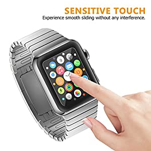 Amoner 3D Full Coverage Screen Protector for 38mm Apple Watch, Tempered Glass, Anti-Scratch, Bubble-Free for iWatch 38mm with Series 1/ 2/ 3 (1Piece in Pack) from Amoner