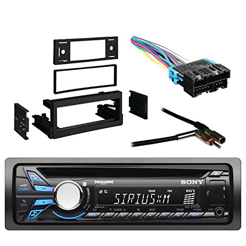 sony cd/mp3 car stereo receiver with front aux input with metra dash kit for