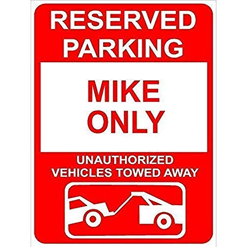 Be3453nt Wall Decoration Sign Mike Reserved Parking Only Family Name Funny Home Tin Sign Plaque for Women