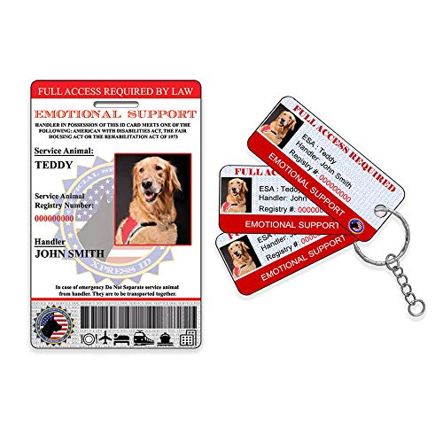 Emotional Support Animal ID and 3 KeyTags (Best Site To Register Emotional Support Animal)