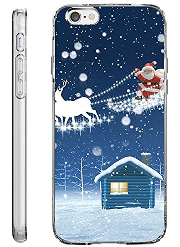 iPhone 6 Plus Back Cover Protector Case 5.5 Inch Christmas Santa Claus (Halloween Qutoes)