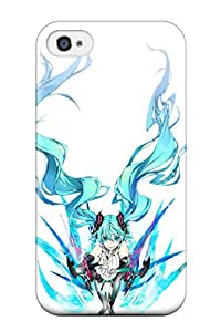 Iphone 4/4s Case Slim [ultra Fit] Vocaloid Hatsune Mikubodysuits Aqua Aquamiwa Shirow Miku Append White Protective Case Cover