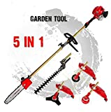 CHIKURA Brush cutter 5-1 lawn mower grass trimmer tree pruner Bush Cutter Whipper Snipper