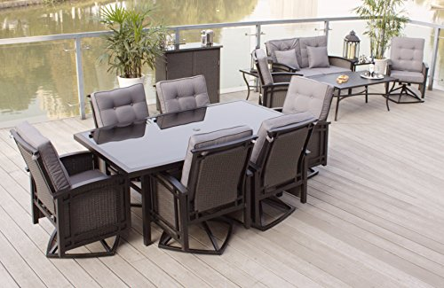 Swivel Chair Outdoor Aluminum Patio - 9
