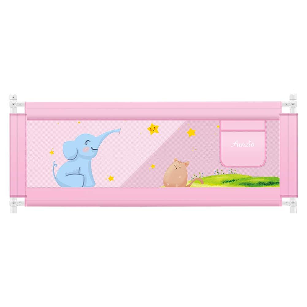 ベッドレール ベビーベッドレール調整可能な子供の安全落下防止ベッドサイドガード、取り外し可能なウォッシュカバー付き縦型リフトベッド手すり、高さ72cm、ピンク (サイズ さいず : 2m) 2m  B07MPRFJKX