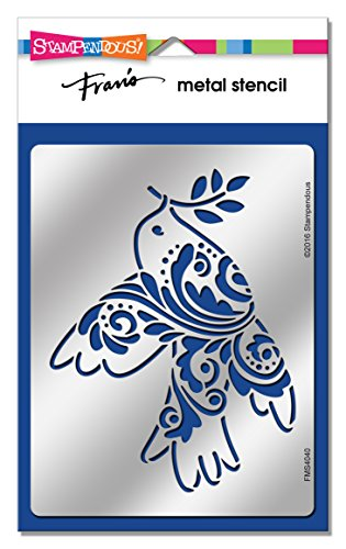 Wood Stampendous New - Stampendous FMS4040 Folk Dove Metal Stencil