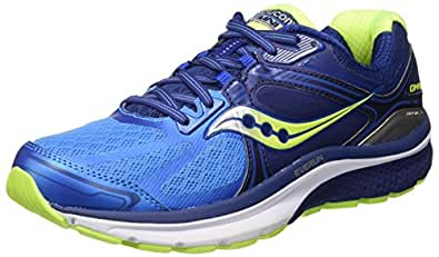 Saucony Men's Omni 15 Running Shoe, Twilight/Blue/Citron, 7 M US