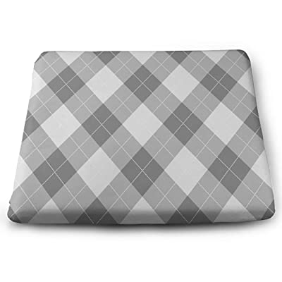 Tinmun Square Cushion, Argyle Pattern Diamond Shapes Grey Large Pouf Floor Pillow Cushion for Home Decor Garden Party: Home & Kitchen
