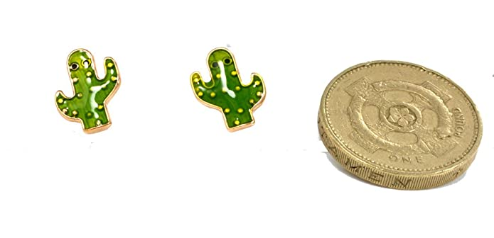 Little Cactus Stud Earrings Cute and Quirky (in Organza Bag) aRxukq