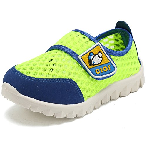 CIOR Kid's Mesh Lightweight Sneakers Baby Breathable Slip-On For Boy and Girl's Running Beach Shoes(Toddler/Little Kid) 37
